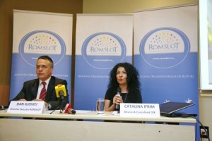 Dan Iliovici, Director Executiv Romslot si Catalina Ifrim, Research Consultant GfK