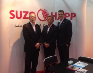 Lou Rudolph, John Vallis and Goran Sovilj of Suzo-Happ at the EAE in Romania