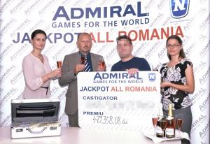 Un barladean a castigat peste 479.000 lei la Jackpot-ul ADMIRAL ALL ROMANIA (2)