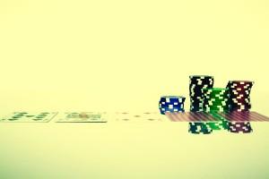 Texas Hold'em Poker game of hazard