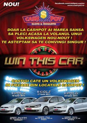 """""""Win This Car"""", noua promotie a Salilor de Jocuri CASHPOT"""
