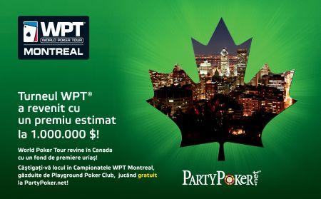 WPT Montreal: Drumul spre un turneu de  1 milion de dolari începe pe PartyPoker.net!