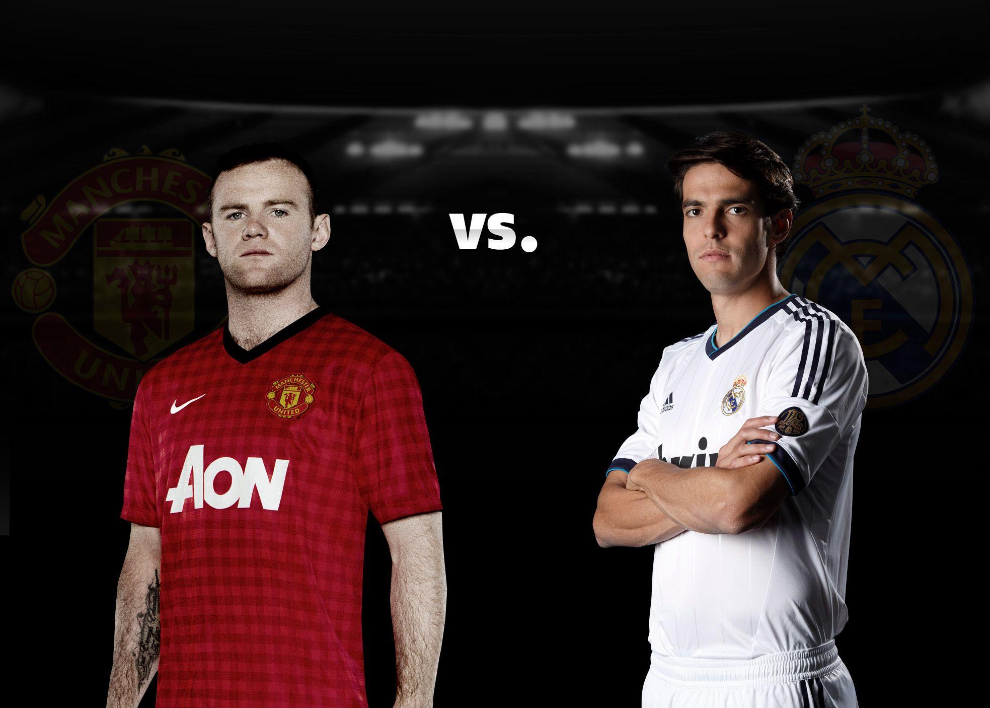 Rooney vs Kaka! Englezul e impresionat de Ronaldo, brazilianul vrea victorie