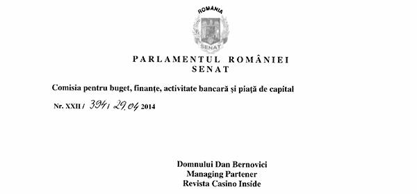 """REACȚII ALE INSTITUȚIILOR STATULUI LA PETIȚIA  """"STOP NAȚIONALIZĂRII GAMINGULUI ROMÂNESC"""""""