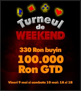 Weekendul Pokerfest revine in acest sfarsit de saptamana. 100.000 RON Garantati si un buy-in de 330 RON.