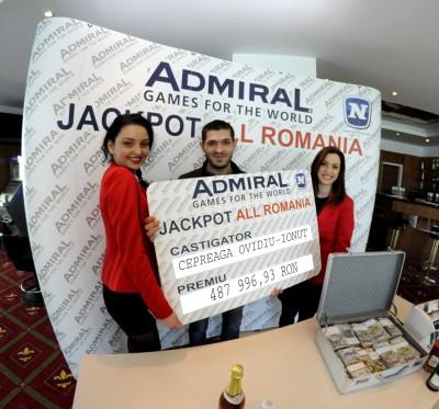 """MARELE JACKPOT ADMIRAL """"ALL ROMANIA"""" A FOST CASTIGAT LA VASLUI!"""
