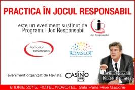 (Română) PROGRAMUL JOC RESPONSABIL susține Evenimentul PRACTICA ÎN JOCUL RESPONSABIL din 8 Iunie, eveniment organizat de Revista Casino Inside