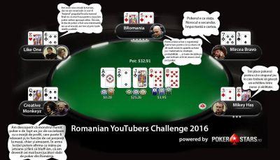 POKERSTARS ROMANIAN YOUTUBERS CHALLENGE  – PRIMA COMPETIŢIE DE POKER ONLINE PENTRU VLOGGERI ŞI FANII LOR