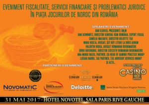 UPDATE 2! Eveniment Servicii Financiare, Fiscalitate și Problematici Juridice în Piața Jocurilor de Noroc din România