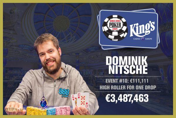 Dominik Nitsche a câștigat High Roller-ul One Drop No-Limit Hold'em de la WSOP Europe