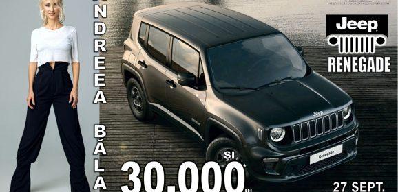Data de 27 Septembrie vine cu un Jeep Renegade la Eldorado Camil Ressu