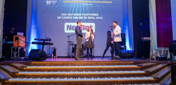 NetBet primeste premiul pentru cea mai bună platformă de casino online în 2019