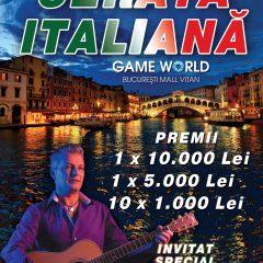 Vineri, serata italiana la Game World Bucuresti Mall