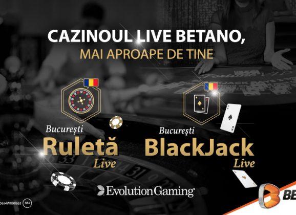 Cazinoul Live Betano, mai aproape de tine. Acum și cu mesele Evolution!