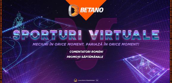 """(Română) """"V"""" de la Virtuale. Ce sunt Sporturile Virtuale de pe Betano, cum le joci și ce trebuie să știi despre ele"""