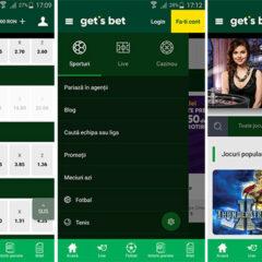 Aplicația mobilă Get`s Bet