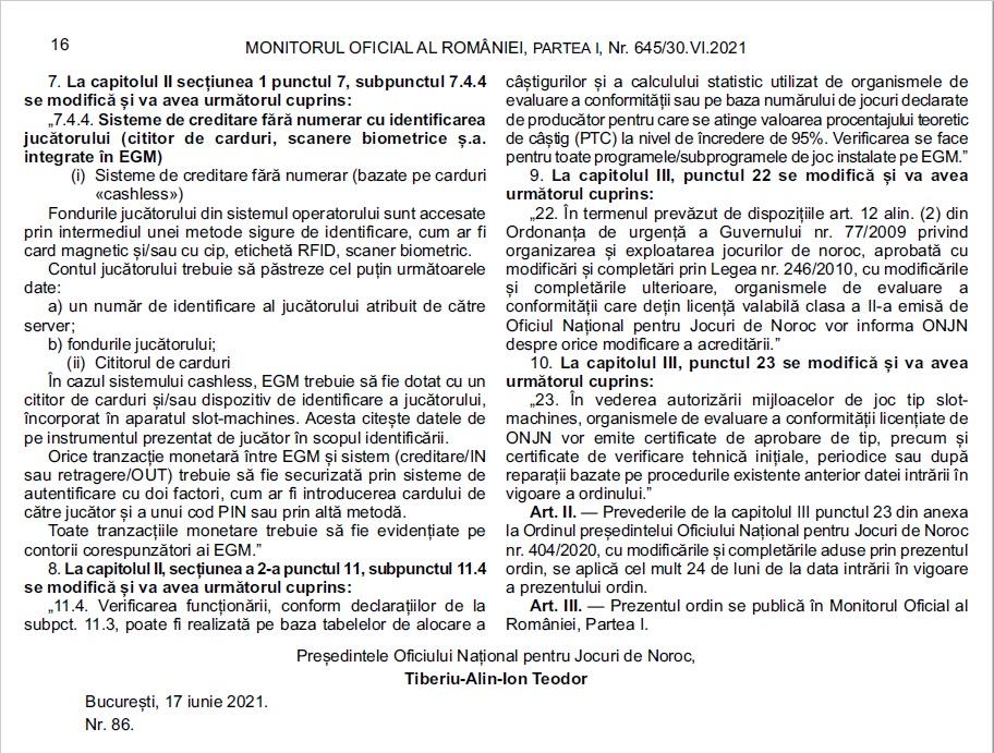 modificarile la Ordinul 404/2020